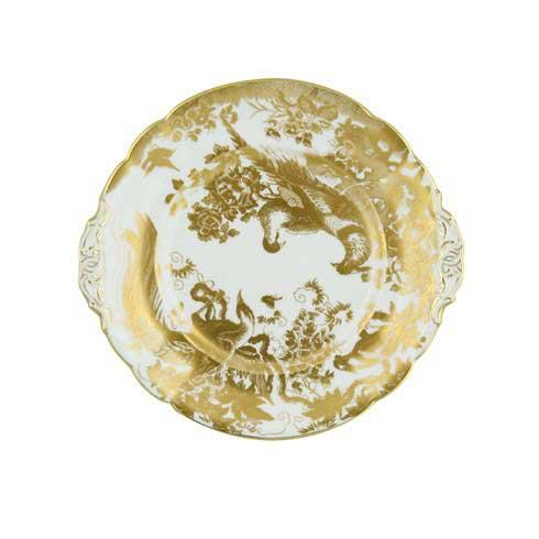Royal Crown Derby  Aves - Gold Cake Plate $270.00