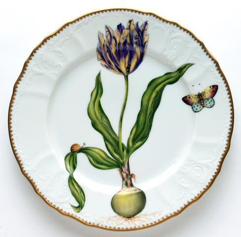 Yellow & Purple Tulip Dinner Plate