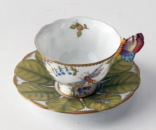 $498.00 Butterfly Handle Cup & Saucer