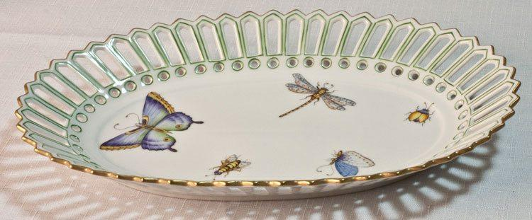 $328.00 Oval Dish with Green Border