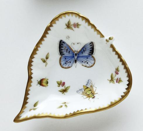 Blue Butterfly, Bee, & Ladybug Leaf Ring Dish
