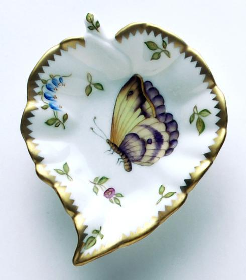$149.00 Purple & Yellow Butterfly Leaf Ring Dish