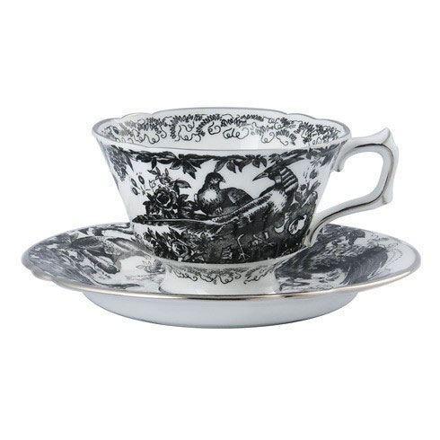 Royal Crown Derby  Aves - Black Platinum Tea Cup $85.00