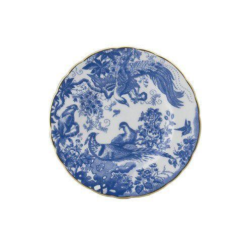 Royal Crown Derby  Aves - Blue Bread and Butter Plate $104.00
