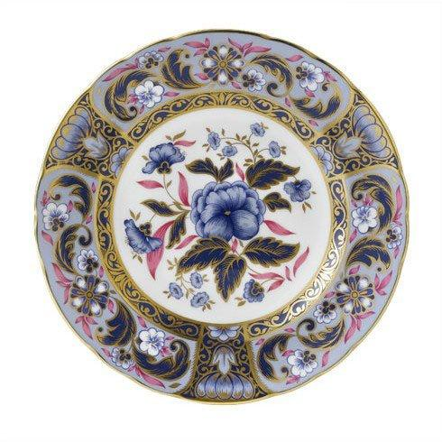 Royal Crown Derby  Imari Accent Blue Camellias Plate in Gift Box $244.00