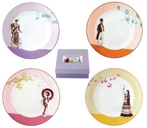 $32.00 Gift Box Of 4 Assorted Dessert Plates