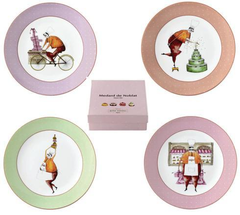 $128.00 Gift Box Of 4 Assorted Dessert Plates