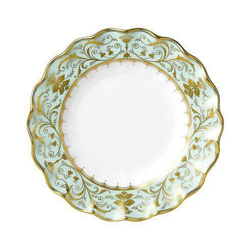 Royal Crown Derby  Darley Abbey Fluted Dessert Plate $365.00