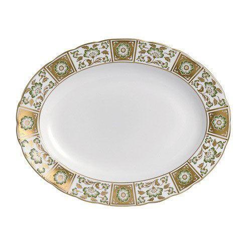 Royal Crown Derby  Derby Panel - Green Medium Platter $528.00