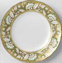 Royal Crown Derby  Accent   Derby Panel Green Gold Plate in Gift Box $180.00