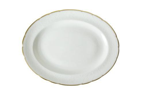 Royal Crown Derby  Darley Abbey Pure - Gold Small Oval Platter $130.00