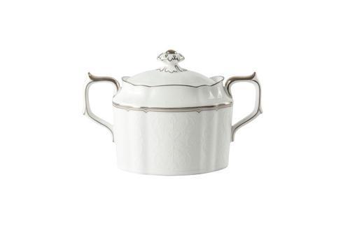 Royal Crown Derby  Darley Abbey Pure - Platinum Sugar Bowl $120.00