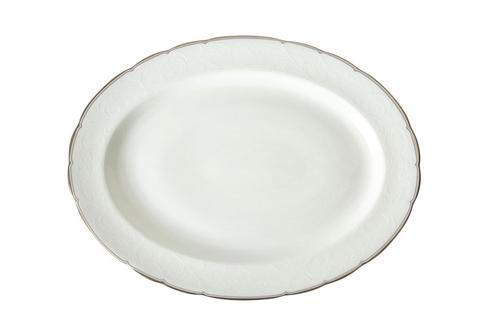 Royal Crown Derby  Darley Abbey Pure - Platinum Large Oval Platter $152.00