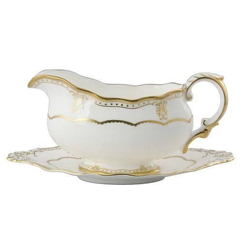 Royal Crown Derby  Elizabeth - Gold Sauce Boat $482.00