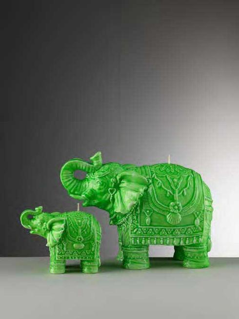 $34.00 Small Green Elephant Candle