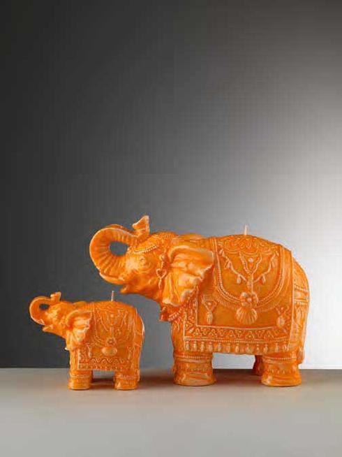 $34.00 Small Orange Elephant Candle