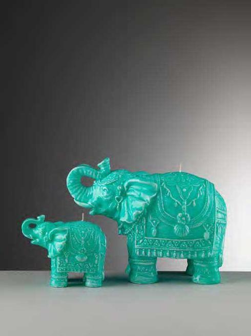 $34.00 Small Turquoise Elephant Candle