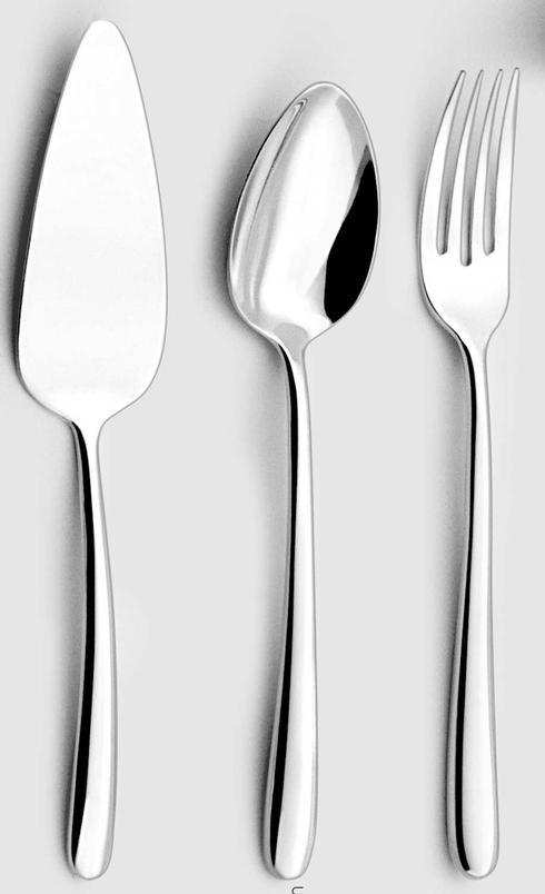 Couzon Stainless Steel Flatware Fusain Four Piece Hostess Set $235.00