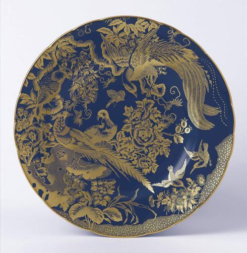 Royal Crown Derby  Accent   Gold Aves Cobalt Plate in Gift Box $205.00