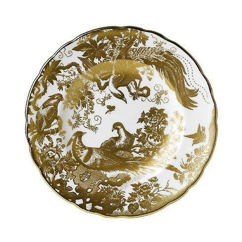 Royal Crown Derby  Aves - Gold Dinner Plate $215.00