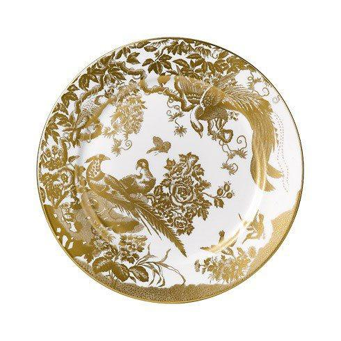 Royal Crown Derby  Aves - Gold Salad Plate $175.00