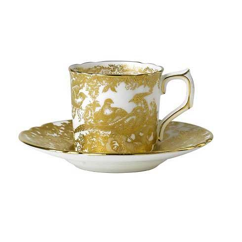 Royal Crown Derby  Aves - Gold Coffee Cup $140.00