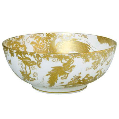 Royal Crown Derby  Aves - Gold Salad Bowl $885.00