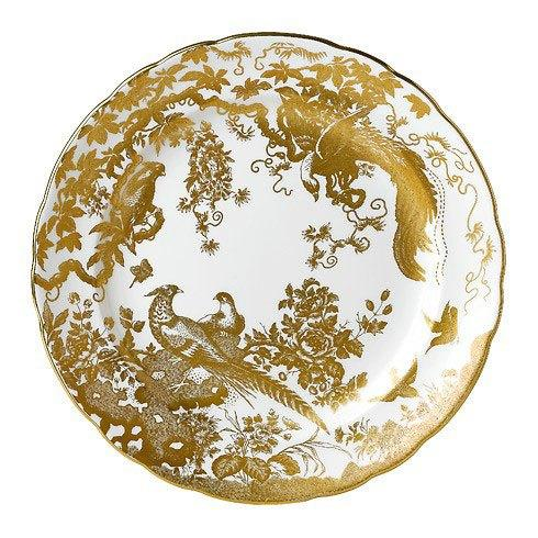 Royal Crown Derby  Aves - Gold Service Plate $346.00