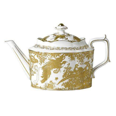 Royal Crown Derby  Aves - Gold Small Tea Pot $694.00