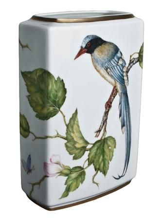 Rectangular Vase with Bird