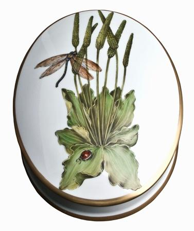 Oval Box with Dragonfly