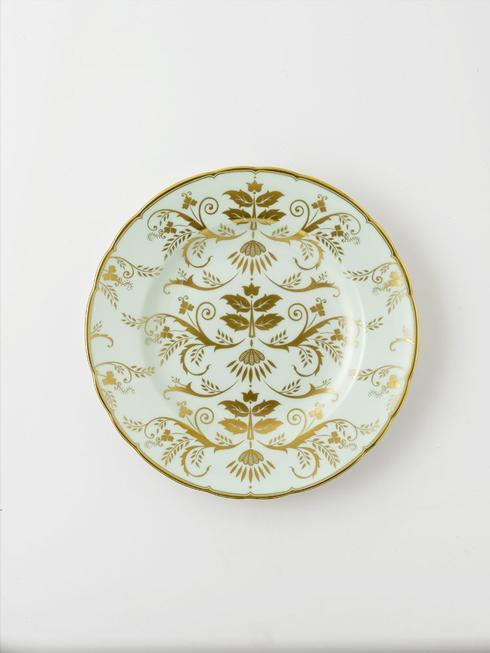 Royal Crown Derby  Darley Abbey Harlequin - Green Salad Plate $195.00