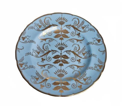Royal Crown Derby  Darley Abbey Harlequin - Duck Egg Salad Plate $175.00
