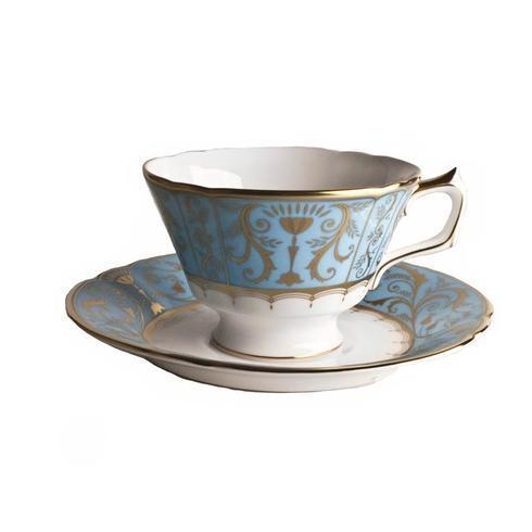 Royal Crown Derby  Darley Abbey Harlequin - Duck Egg Tea Saucer $105.00