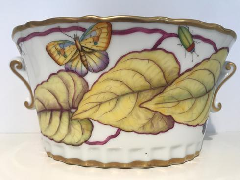 $475.00 Yellow Flower Small Cachepot