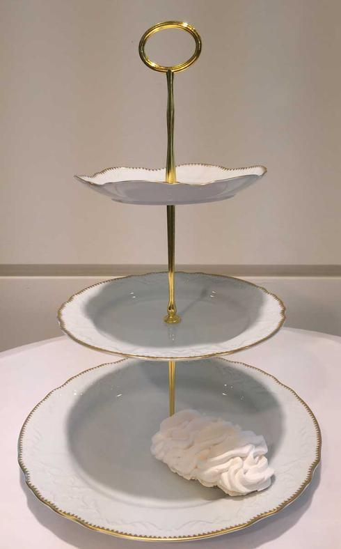 $190.00 3 Plate Tiered Cake Stand