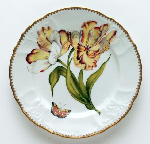 Double Tulip Salad Plate