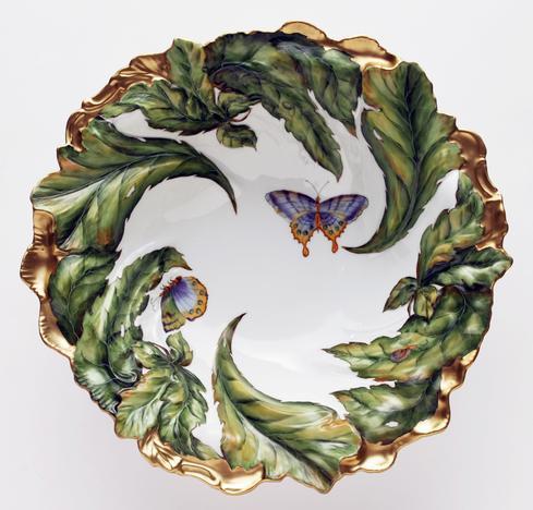 Large Embossed Leaf Bowl
