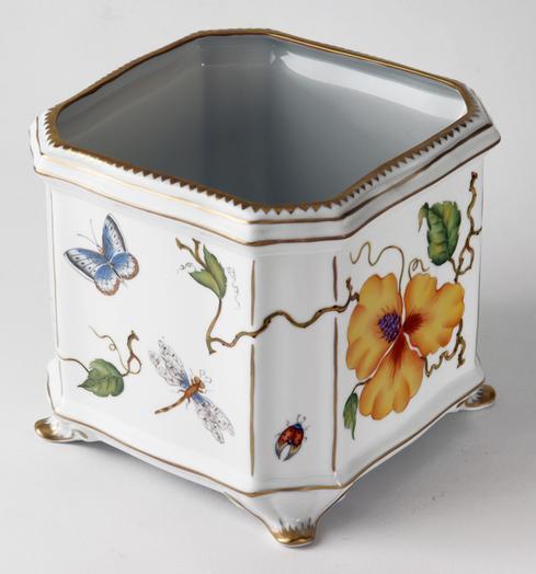 $595.00 Floral Square Cachepot