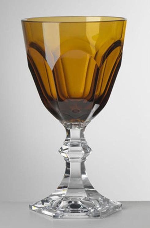 $25.00 Amber Water Goblet