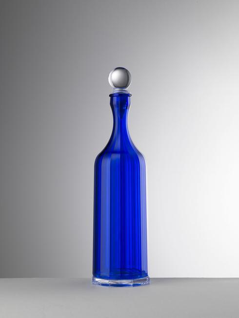 $65.00 Blue Decanter With Sealed Stopper