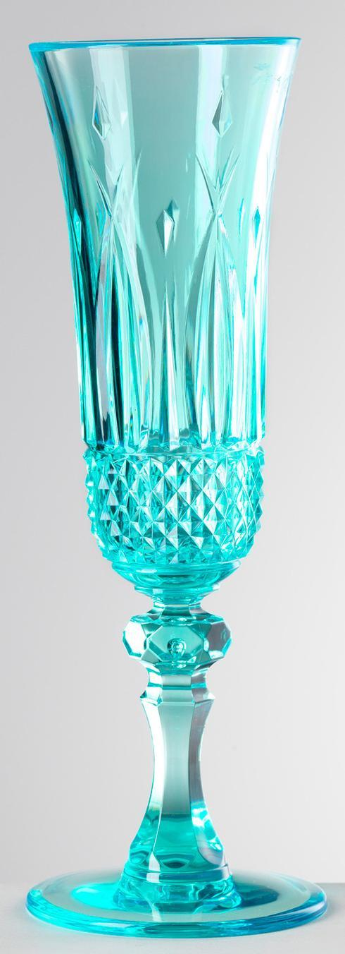 $25.00 Turquoise Champagne Flute