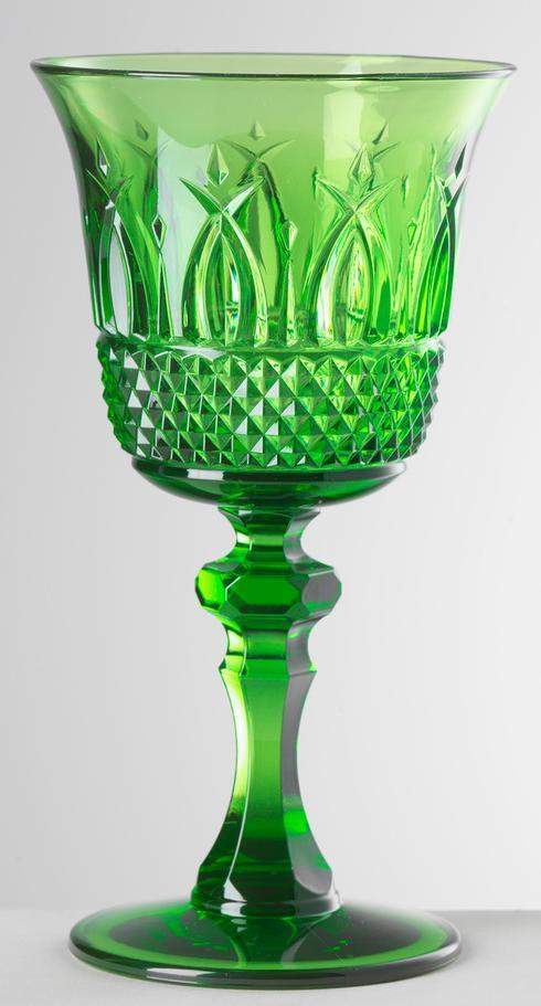 $24.00 Green Wine Glass
