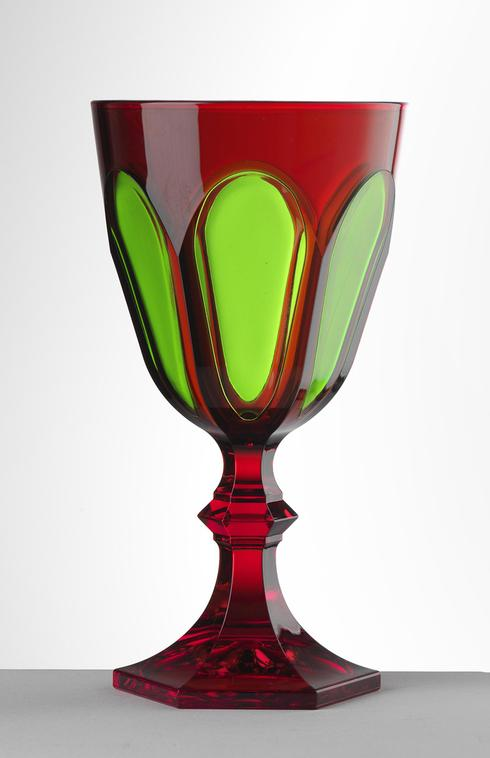 $25.00 Red/Green Water Goblet