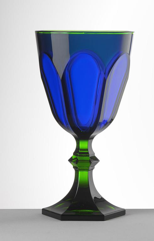 $25.00 Green/Blue Water Goblet