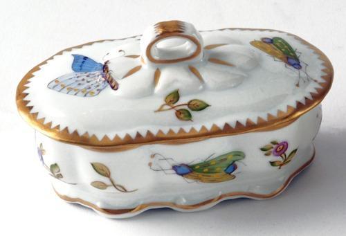 $190.00 Small Oval Ruffled Trinket Box