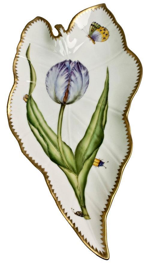 $480.00 Blue/Lavender Tulip Leaf Tray
