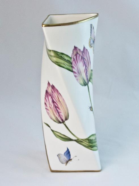 $450.00 Pink Tulip Triangular Vase