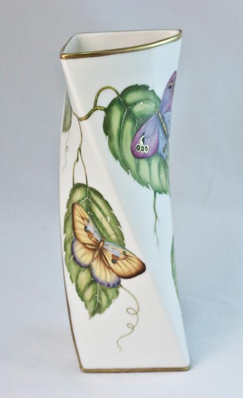 $450.00 Butterfly Triangular Vase