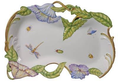 Pierced Tray with Flowers